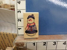susie king snowman winter NEW rubber stamp 34s