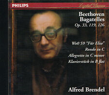 CD album: Beethoven: Bagatelles. Alfred Brendel. philips. J