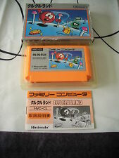 CLU CLU LAND NINTENDO NES FAMICOM JAPAN IMPORT COMPLETE IN BOX!