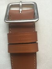 NEW NWT Prada Men's Cinture Brown Cacao Leather Light Brown Belt Size 36