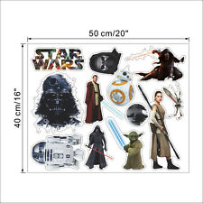 STAR WARS Wall Stickers Removable Vinyl Art Mural Kids Room bedroom Decal Decor