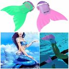 Mermaid Tail Mono Fin Flippers Swimmable Swimming Toy Prop For Kids Girls Study
