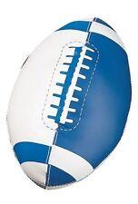 """New Champion Soft Sport Mini 8"""" Long Foam Nurf Football Blue/Wht w/ Raised Seam"""