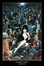 11x17 Creature Feature (Elvira) print by BYRON WINTON