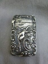 Gorgeous Unger Brothers Sterling Silver Matchsafe / Vesta Case - Nude in Waves