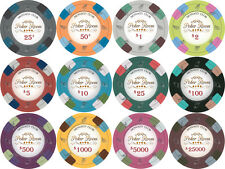 NEW 25 PC Monaco Club 13.5 Gram Clay Poker Chips 1 ROLL Pick Your Chips