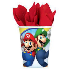 8 Super Mario Bros Nintendo Birthday Party Disposable 9oz Paper Cups