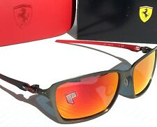 NEW* Oakley TINCAN FERRARI Black Carbon POLARIZED Ruby IRIDIUM LENS 6017-07 $400