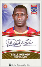 2013-14 A League Soccer Card Signature Card A06 Emile Heskey (Newcastle Jets)