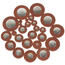 26Pcs Sax Orange Leather Replacement Pads for Woodwind Soprano Saxophone