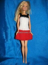 miss france creation handmade barbie doll dress robe de barbie colorée tricotée
