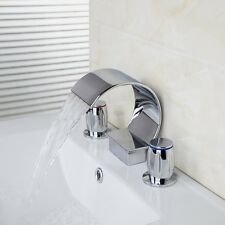 chrome finish contemporary tub mixer tap bath basin faucet 3pieces set kjyo678