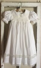 Remember Nguyen Girl's Smocked White Heirloom Lace Dress & Slip Set 6X