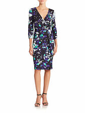 DVF Diane von Furstenberg New Julian Two Wrap Dress  Ink Lagoon US sz 4 UK sz 8