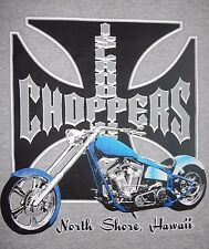 HAWAII, NORTH SHORE - ISLAND CHOPPERS - Men's size M - Graphic T-Shirt