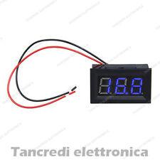 Voltmetro digitale 3-30V LED blu blue tensione tester pannello auto moto camper