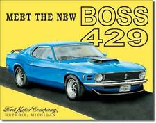 Ford Mustang Boss 429 USA Metall Schild Plakat