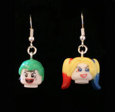 Lego Joker and Harley Quinn drop dangle Earrings Suicide Squad stocking filler