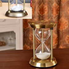 Retro Bronze Sand Glass Timer Hourglass Time Sandglass Decor Home / Office Gift