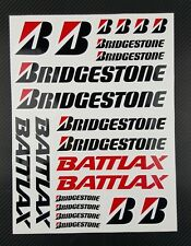 Bridgestone Battlax Sponsors decals set 9x12'' 22 stickers race track gp honda