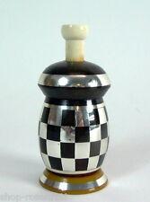 ausgefallener  Art Deco  Streuer - Bakelit & Schachbrettdekor