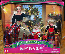 1998 Holiday Sisters Barbie Kelly Stacie Special Edition 19809 NRFB
