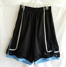 Air Jordan Mens Basketball Workout Shorts Size L Gray Trim Lined Snap Sides