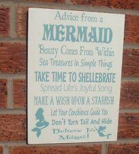Conseils d'une sirène enfants famille signe plaque blanc