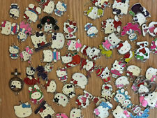 10 x Hello Kitty Enamel Hang Charms, Ideal For Jewellery Making, Necklace