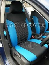 VOLKSWAGEN UP CAR SEAT COVERS BLUE CROSS STITCH FULL SET SBCSC208