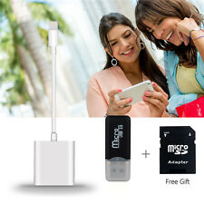 2 in 1 Lightning to SD Card Camera Reader for iPad iPhone with 8-pin connector