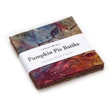 "CHARM PACK~PUMPKIN PIE BATIKS~MODA~40-5"" SQUARES~LAUNDRY BASKET QUILTS"