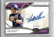MATT WILLIAMS 2014 TOPPS TIER ONE ON THE RISE CERTIFIED AUTOGRAPH#/299