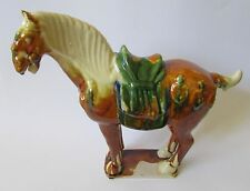 Vintage Asian/ Chinese Large Ceramic Ming / Tang Style Horse Statue