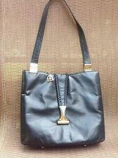 Vintage Rosenfeld Leather Black Handbag Purse