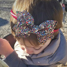 Kids Nice Bowknot Headband Hairband Baby Bling Head Dress Turban For Girls Hot