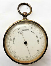 NO RESERVE Victorian Pocket Barometer Vintage Antique