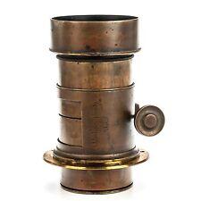 Darlot Opticien Brass Barrel Lens 300mm (12 in) F5 Antique Lens