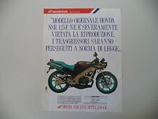 advertising Pubblicità 1990 MOTO HONDA NSR 125 F