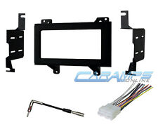 DOUBLE 2 DIN CAR STEREO RADIO RECEIVER TRUCK INSTALLATION KIT W WIRING HARNESS