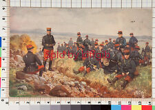 Tuck's Oilette vintage postcard artist signed painting French Army soldiers