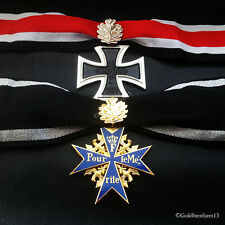 Knights Cross & Pour Le Merite With Leaves Highest Awards Medals German Repro