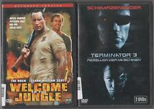 Welcome to the Jungle Dwayne Johnson + Terminator 3 Arnold Schwarzenegger DVD