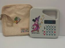 Vintage MICKEY  MOUSE KIDS Math Calculator Walt Disney WITH A CASE 1970s WORKS