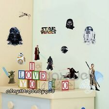 Star Wars Charaters Darth Vader Yoda Wall decals Removable Stickers kids decor