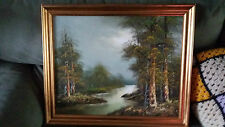 ORIGINAL LANDSCAPE OIL BEAUTIFUL AUTUMN PAINTING MATCHES WINTER PAINTING