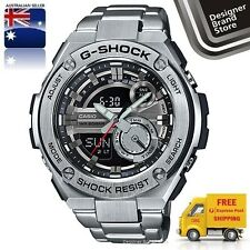 NEW CASIO G-SHOCK G-STEEL MENS WATCH SILVER TONE ANA DIGI GST-210D-1A EXPRESS
