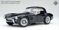 Exoto 1/18 1963 AC Cobra Roadster Hard-Top Black/Black on Black RLG18131