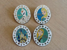 DISNEY PINS-FROZEN ELSA-ANNA-OLAF-CASTLE- Set of 4 as shown in picture,Fast Ship