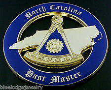 North Carolina Past Master  Car Emblem Masonic Automobile Emblem